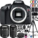Canon EOS Rebel T6 DSLR Camera 37PC Accessory Kit - International Version (No Warranty) w/ Canon EF-S 18-55mm f/3.5-5.6 IS STM Lens, Canon EF-S 55-250mm f/4-5.6 IS STM Lens, MORE