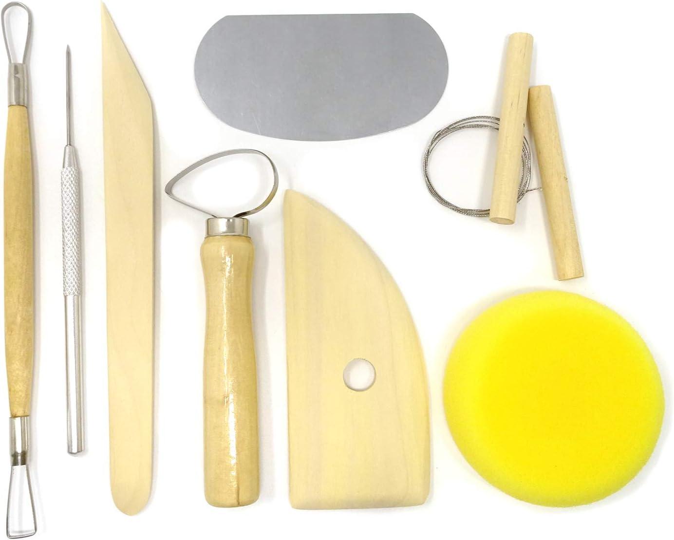 8Pcs Set Clay Wax Pottery Tool Kit Ceramics Wax Carving Sculpting Moldeling Tool