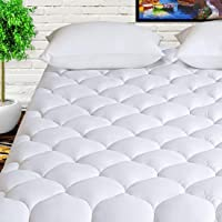 "HARNY Mattress Pad Cover Cooling Mattress Topper 400TC Cotton Top Quilted Pillowtop 8-21""Deep Pocket"