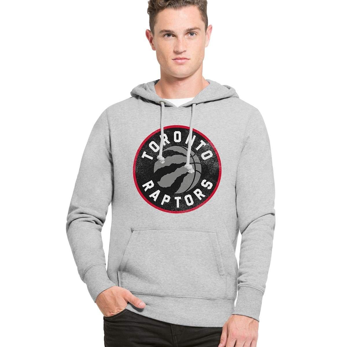 '47 Brand Toronto Raptors Knockaround Hoodie NBA Sweatshirt 307140-SGRY