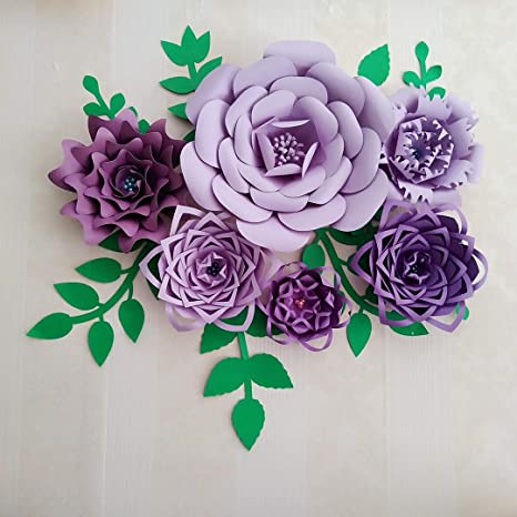 Amazon 1 Set Diy Giant Paper Flower For Wedding Backdrop Baby