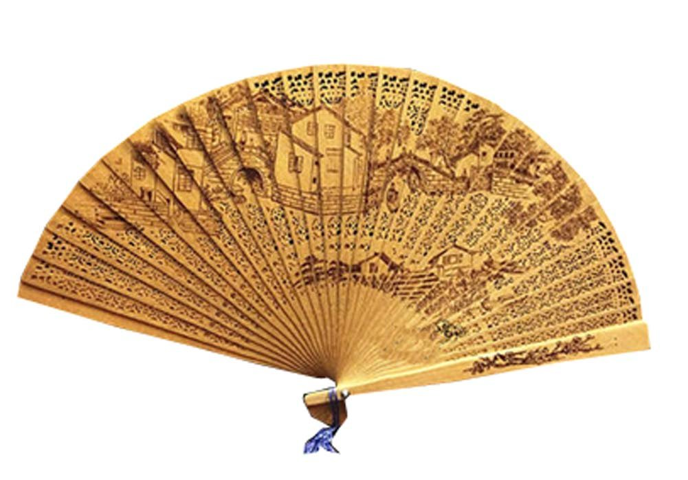 Panda Superstore Folding Fans Chinese Style Chinese Fan Hand Fan Hand Held Fans Folding Hand Fan