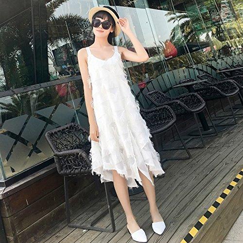 Robes d't Long Plage Plage XL mi 2018 mer Robe fe Black corenne Version fe d'attente Douce Nouvelle Style MiGMV Jupe qEwpdnSzRE
