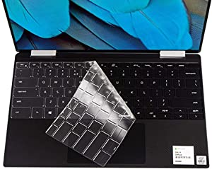 """Ultra Thin Keyboard Cover for New 2019 Dell XPS 13 7390 2-in-1 13.3"""" Laptop Keyboard Cover Protective Skin (for 2-in-1 Version Only), US Layout"""