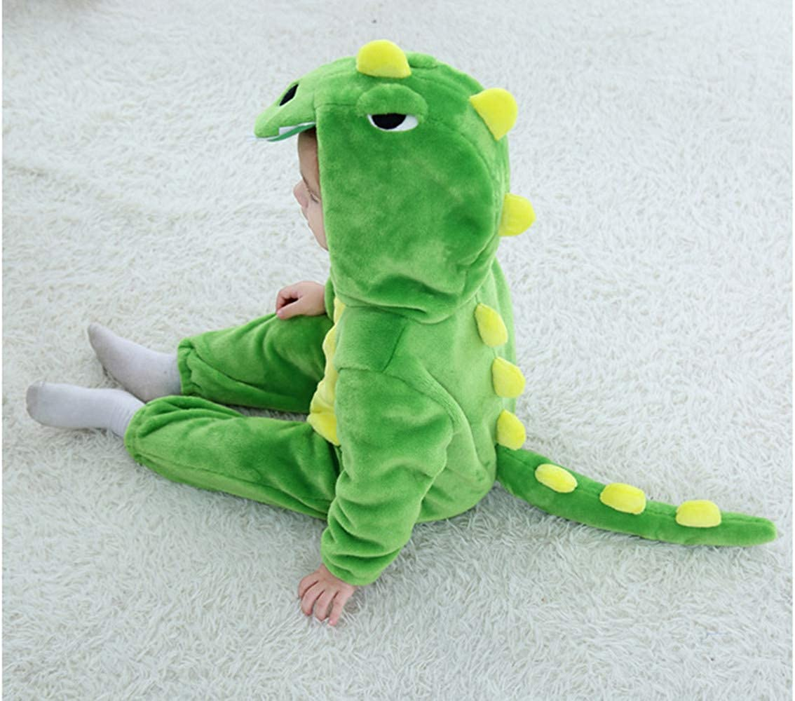 Baby Infant Dragon Costume 2018 Autumn//Winter Baby Romper Jumpsuit Flannel Dinosaur Pattern Costume with Animal Hooded Cloth Romper for 0-3Y Baby
