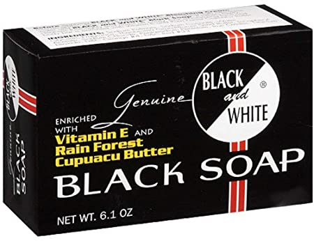Black and White Black Soap, 6.1 oz Pack of 12