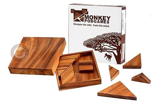 Amazon.com: Monkey Pod Games Tangram Puzzle: Toys & Games