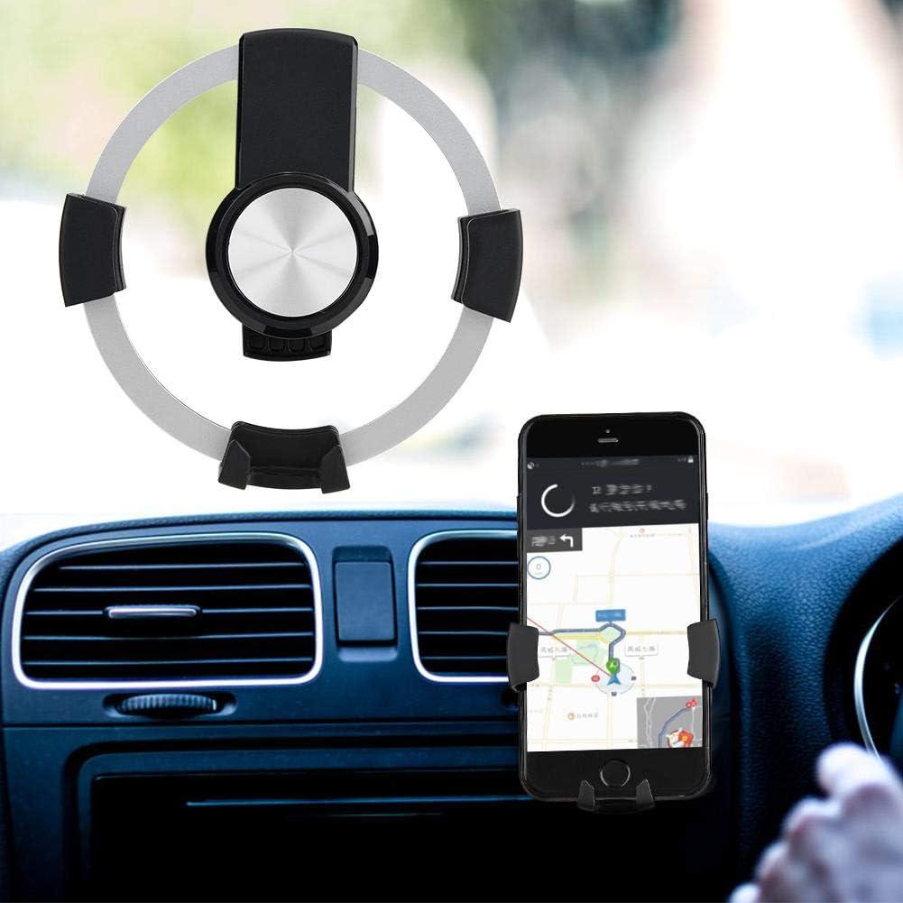 Akozon CD Slot /& Air Vent Mount Car Automatic Clamping Gravity Phone Holder 360/° Rotation Black