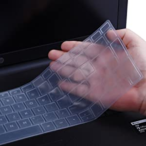 """Keyboard ProtectorSkin Cover Compatible HP Pavilion 15.6"""" 2018 New Series,HP Pavilion x360 15-BR075NR,HP Pavilion 15-BS 15-BW 15-CC 15-CB 15-CD,HP ENVY x360 15M-BP 15M-BQ,17.3""""HP ENVY 17M 17-BS(Clear)"""