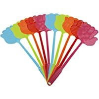 ValueHall 10 Pack Fly Swatter Pest Control Multi-Colors Plastic Handle for Flies V7023