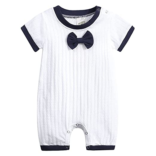 4163cc1942f7 Amazon.com  Dsood Newborn Jumpsuit 2019 Toddler Infant Baby Boys Girls  Striped Romper Jumpsuit Outfits Clothing  Clothing