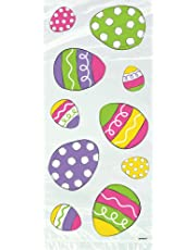 Unique Party 44957 - Cellophane Bright Easter Party Bags, Pack of 20