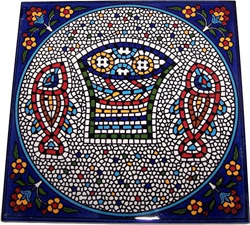 Modular hand painted tile from Jerusalem Model IX - 6 Inches - Asfour Outlet Trademark (Jerusalem Tile)