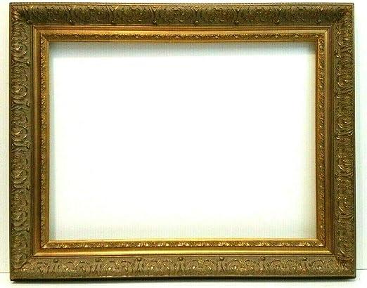 """12 X 16 STANDARD PICTURE FRAME 2 3//8/"""" WIDE SCOOP GOLD LEAF ORNATE FLORAL CARVE"""