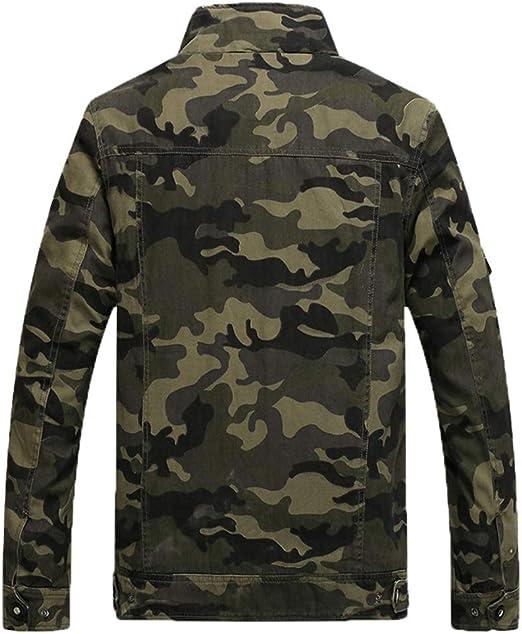 LaoZanA Hombre Chaqueta Camuflaje Abrigo Cazadora Militar Casual Multi-Bolsillo Slim Fit: Amazon.es: Deportes y aire libre