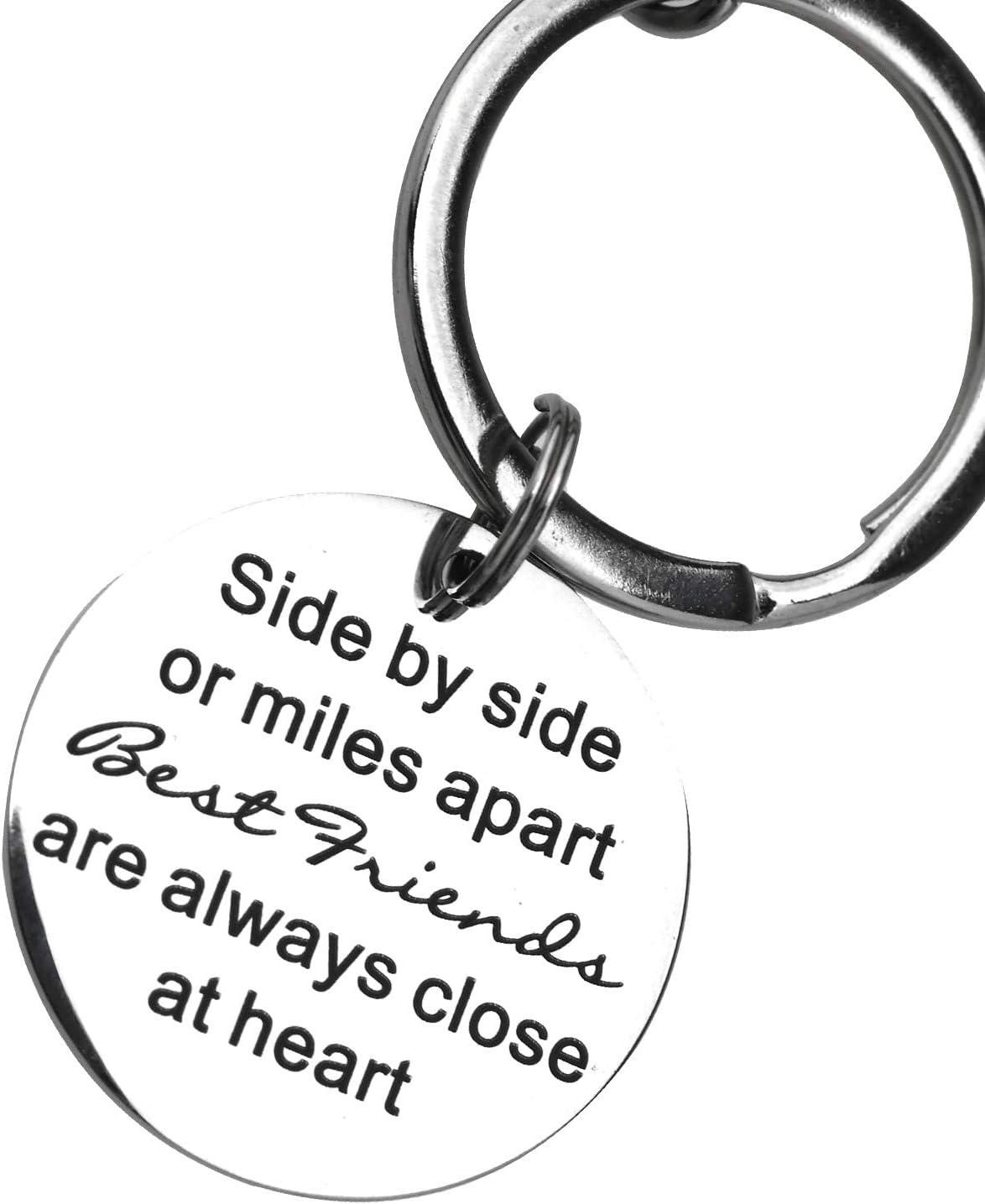 OTOTEC Porte-cl/és Side to Side Or Miles Apart Boussole Best Friends Sac /à Main Porte-cl/és pour Femmes Filles Amis Cadeaux Sac /à Main Accessoires