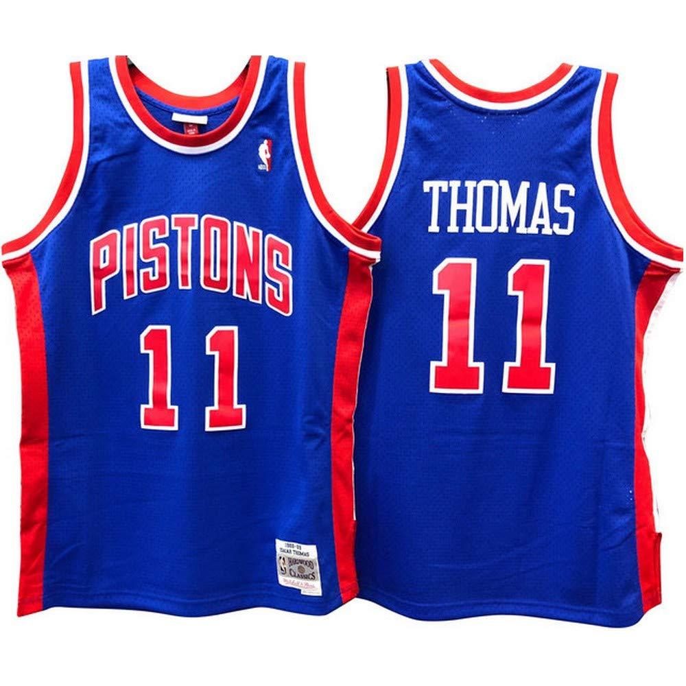 Mitchell & Ness Swingman Detroit Pistons Thomas Camiseta sin Mangas: Amazon.es: Ropa y accesorios