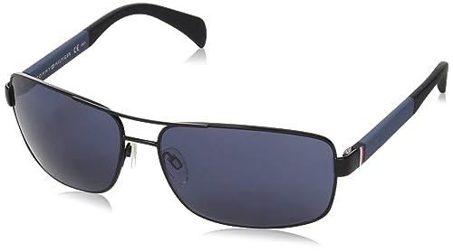 Tommy Hilfiger TH 1258/S KU, Gafas de Sol Unisex-Adulto, Mtblack Grey, 64