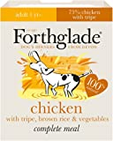 Forthglade 100% Natural Dog Food Complete Wet Dog Food Chicken with Tripe & Brown Rice 395g (18 Pack)