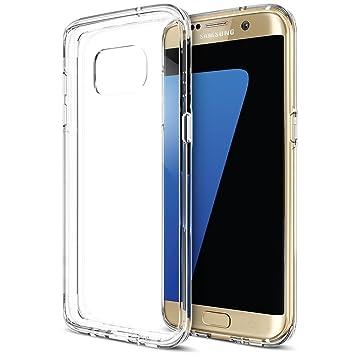 iVoler Funda Carcasa Gel Transparente Compatible con Samsung Galaxy S7 Edge, Ultra Fina 0,33mm, Silicona TPU de Alta Resistencia y Flexibilidad