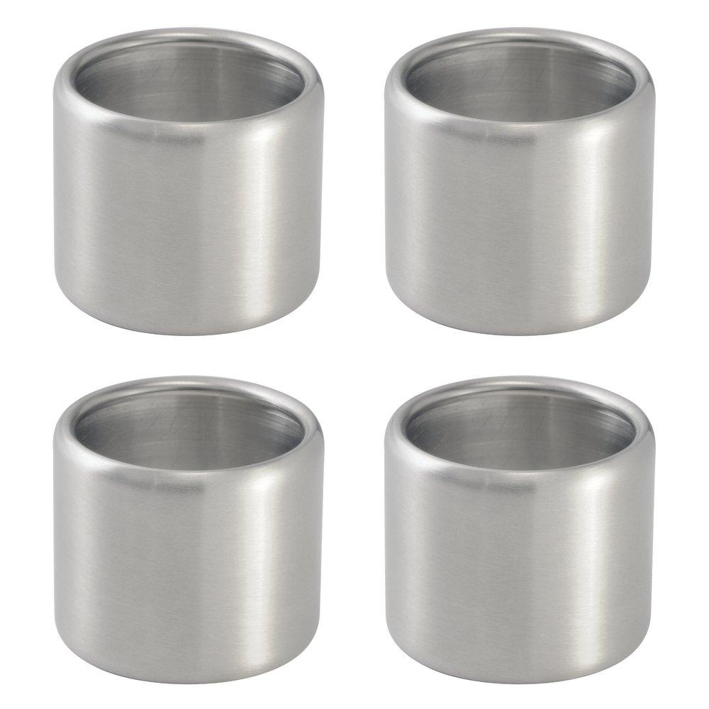 InterDesign Brushed Stainless Steel Napkin Ring, Set of 4 by InterDesign