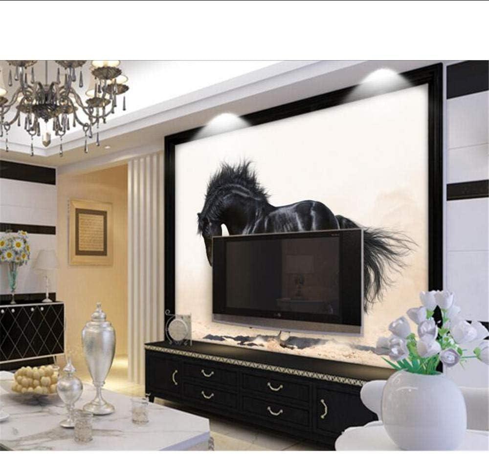 Fondo de pantalla 3D personalizado Fondo de pantalla de caballo negro Fondo de TV Sofá Fondo de pantalla decorativo para paredes 3D MRQXDP: Amazon.es: Bricolaje y herramientas
