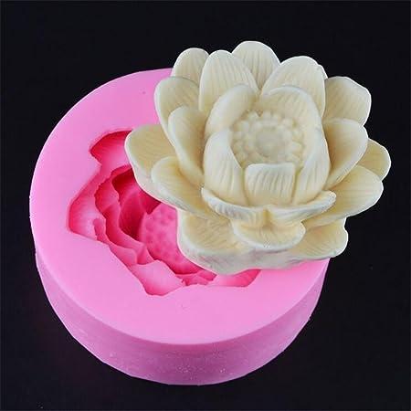 3d Blooming Chrysanthemumslotus Flower Handmade Soap Silicone