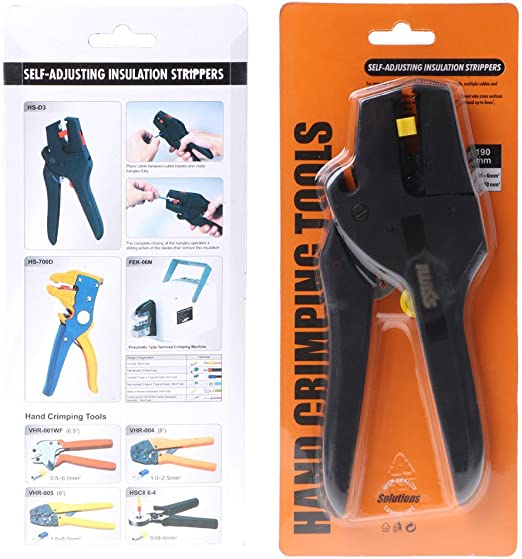 Flat Nose Self-Adjusting Insulation Wire Cable Pliers Stripper Cutter Tool NEW