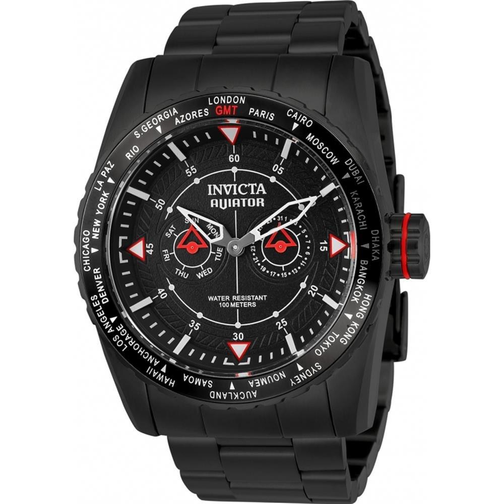 INVICTA AVIATOR RELOJ DE HOMBRE CUARZO 48MM CORREA DE ACERO CHAPADO ION 22985: Amazon.es: Relojes