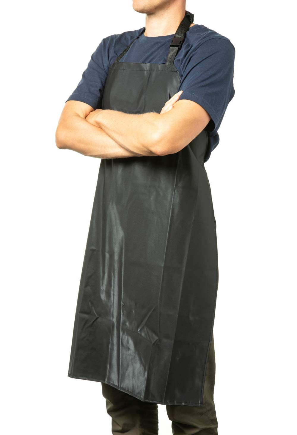 Waterproof Rubber Vinyl Apron - 35'' Upgraded 2018 Light Model - Best for Staying Dry When Dishwashing, Lab Work, Butcher, Dog Grooming, Cleaning Fish, Projects - Industrial Chemical Resistant Plastic