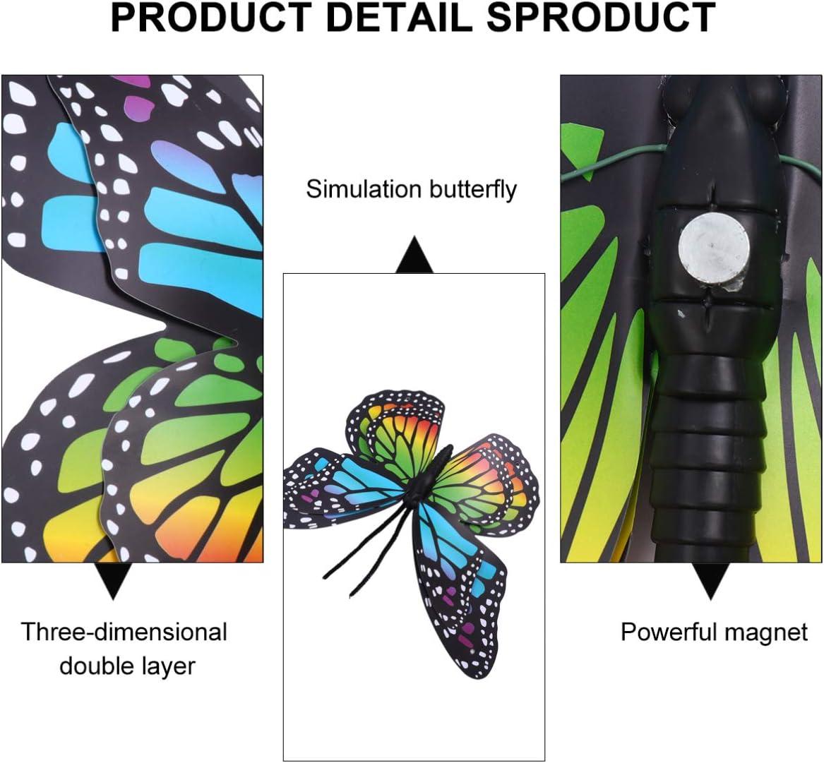 Yardwe 2 Pi/èces Color/é Grand Papillon en M/étal Jardin Mur Art D/écorations dart en Plein Air pour Salon Chambre Maison Jardin D/écor