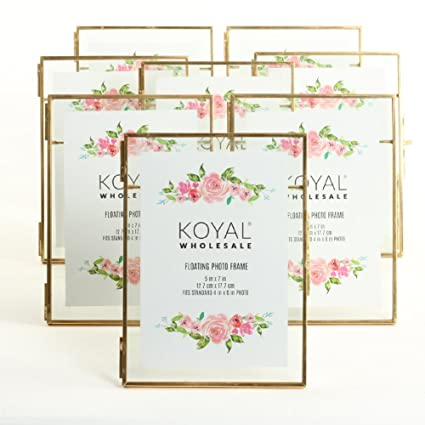 f491262f743 Amazon.com - Koyal Wholesale Pressed Glass Floating Photo Frames 8 ...