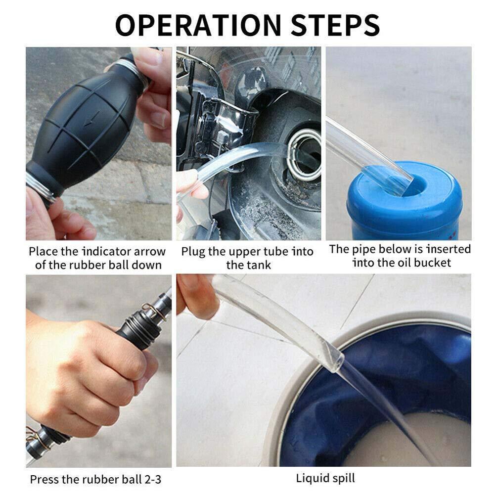 Rziioo Bomba de sifón para la Bomba de Transferencia de líquidos ...