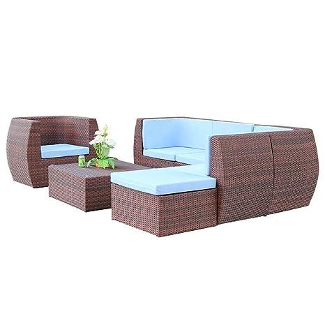 Heartfulness Conjunto de Muebles de jardín de ratán Patio ...