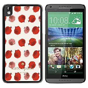 Unique Designed Kate Spade Cover Case For HTC Desire 816 Black Phone Case 255