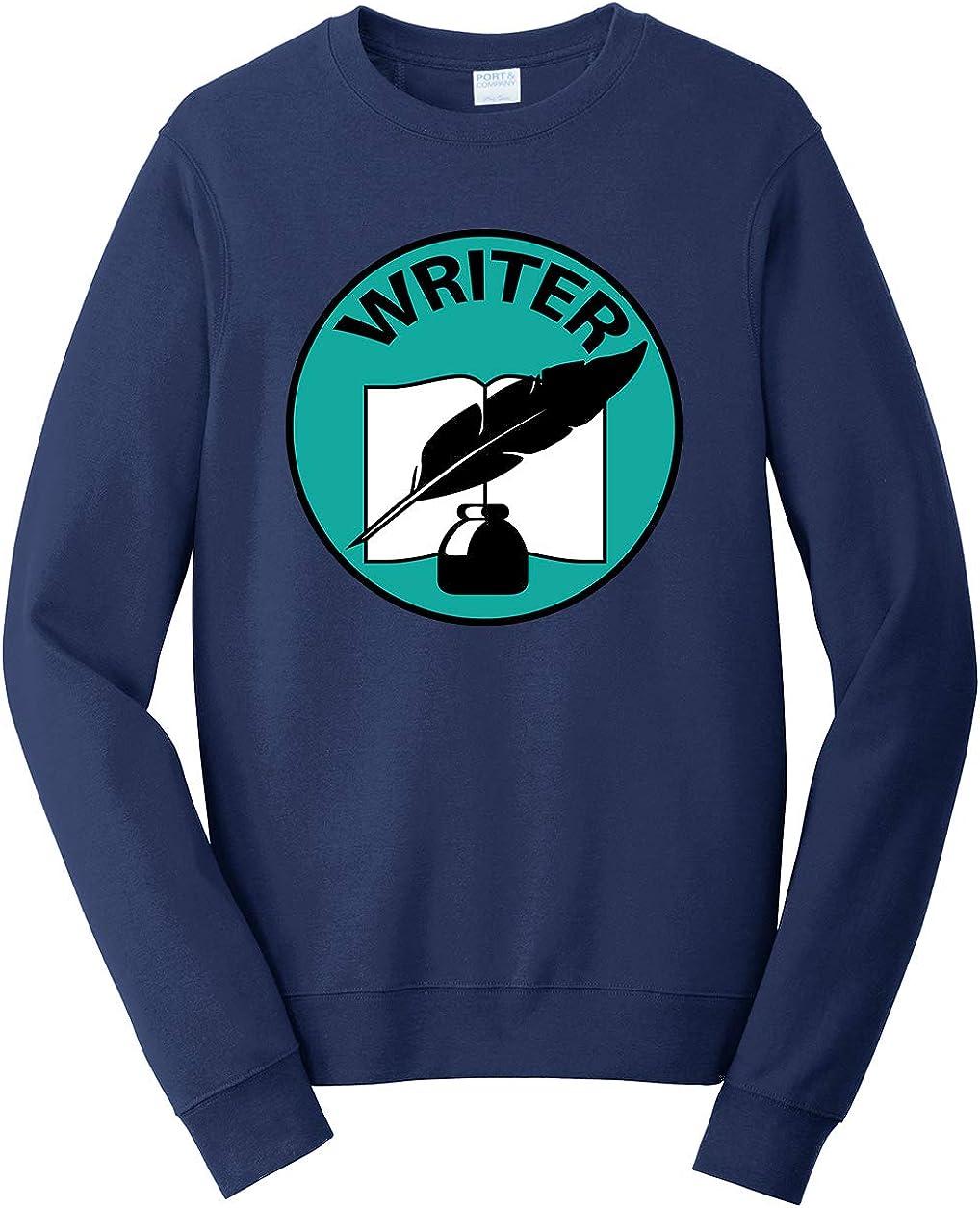 Tenacitee Mens Writer Badge Sweatshirt