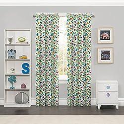 Eclipse Dippy Dinos Blackout Window Curtain Panel, 42 x 63, Multicolor