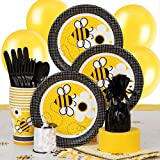 Bumble Bee Party Supplies Kit for 8