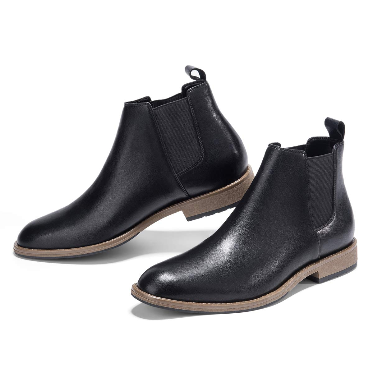 GM GOLAIMAN Men's Chelsea Boots Slip On - Dress Boot Fashion Work Office Prom Wedding Gifts Botas Invierno Hombre Black 9.5 by GM GOLAIMAN