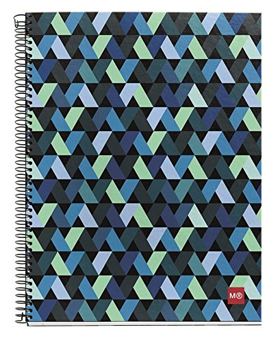 miquelrius-spiral-hardcover-notebook-4-subject-140-sheets-280-lined-pages-65-x-8-origami-dark-blue
