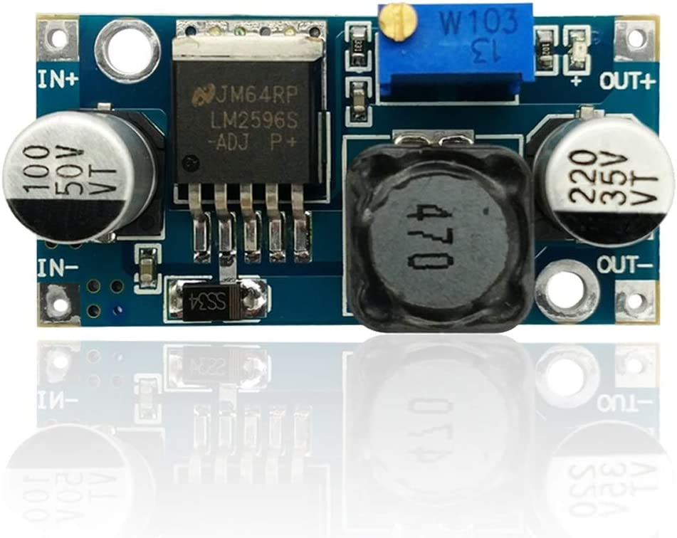 JIUYAODIANZI LDTR-WG0180 LM2596 Adjustable Voltage Regulating//Reducing Module Electronic Components Computer Accessories
