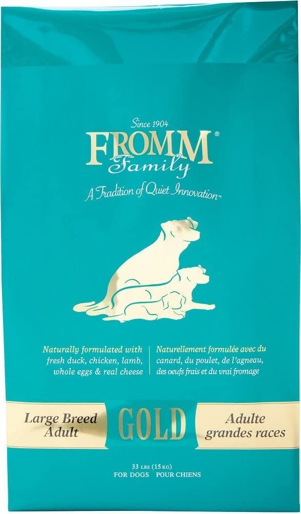 Fromm Family Foods 727548 Adult Gold Large Breed Formula 15 Lb Dry Dog Food (1 Pack), One Size