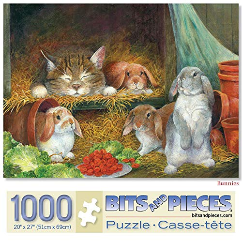 (Bits and Pieces - 1000 Piece Jigsaw Puzzle for Adults - Bunnies - 1000 pc Rabbit Jigsaw by Artist Lynne)