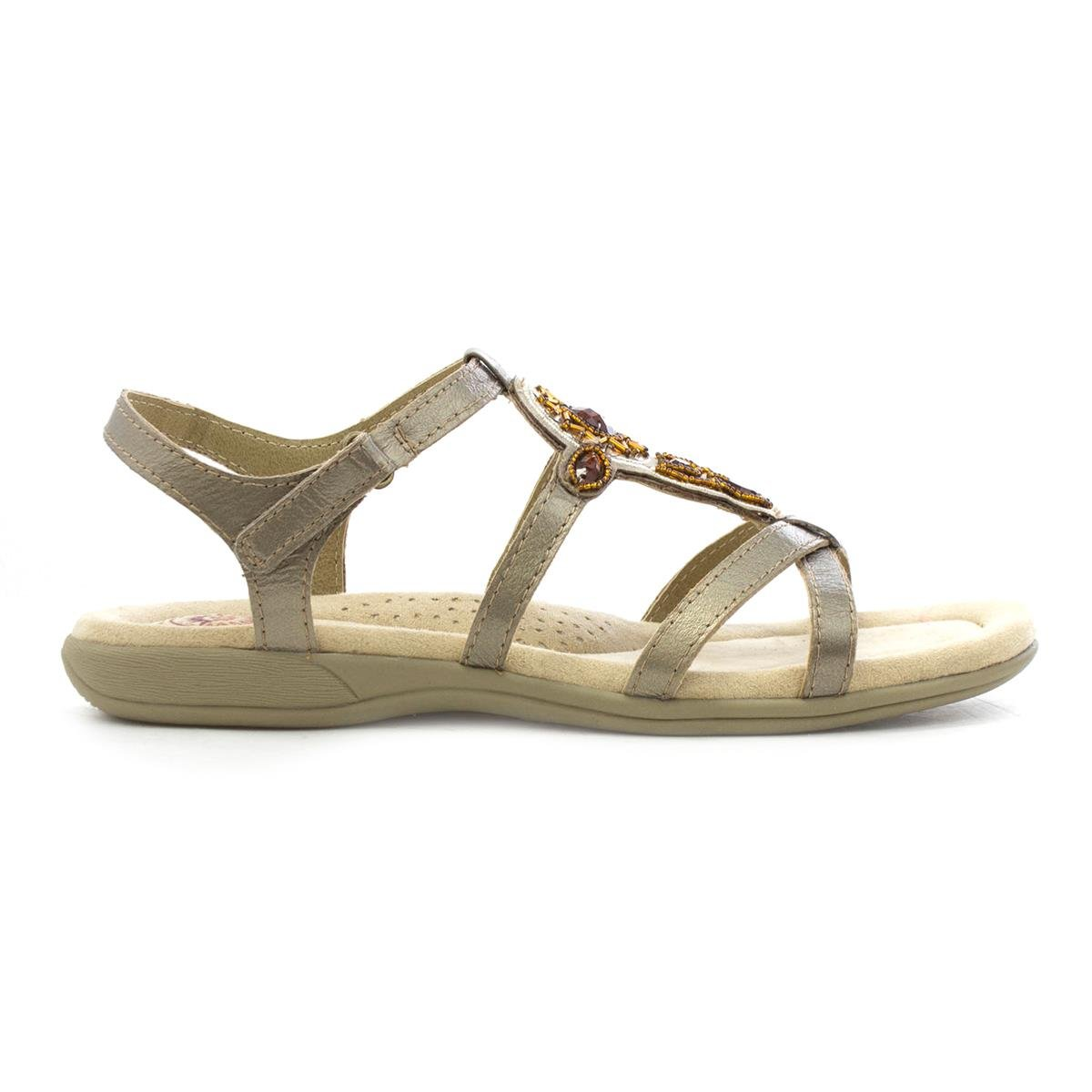 08a384fd6 Earth Spirit Womens Leather Platinum Casual Sandal  Amazon.co.uk  Shoes    Bags