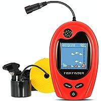 LUCKY PortableFishFinder Fish Detector Device Handheld Depth Finder for Boat Kayak Canoe Pontoon Jon Boat Jet ski Float Tubes fishfinder for ice Fishing surf Fishing Gifts for Men