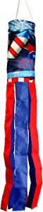 Toland Home Garden 162518 Home of The Brave Decorative Windsock, Multicolor