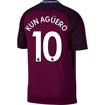 299b2d251 Manchester City Away Kun Agüero Jersey 2017   2018 (Authentic EPL Printing)  - S
