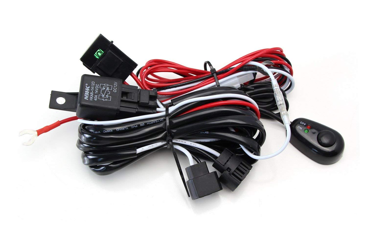Ijdmtoy 1 Universal Fit Relay Harness Wire Kit With Led Light On Wiring Works Vw