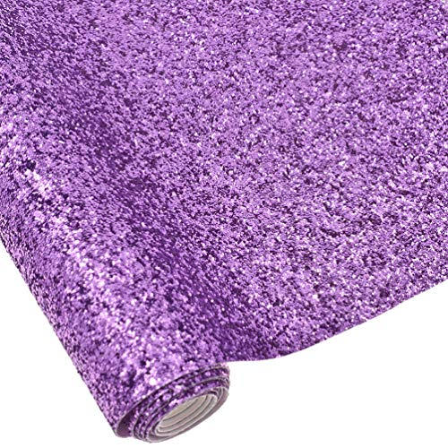 CHZIMADE 12inch x 53inch Chunky Leather Glitter Faux Fabric DIY Sheet Canvas Back Great for Hair Bows Making Craft by CHZIMADE (Image #1)