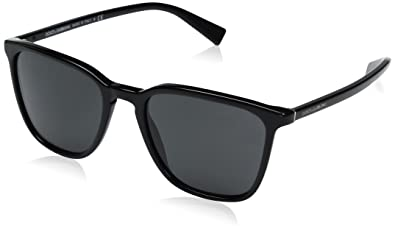 Dolce & Gabbana Mens Acetate Man Square Sunglasses, Black, 53 mm